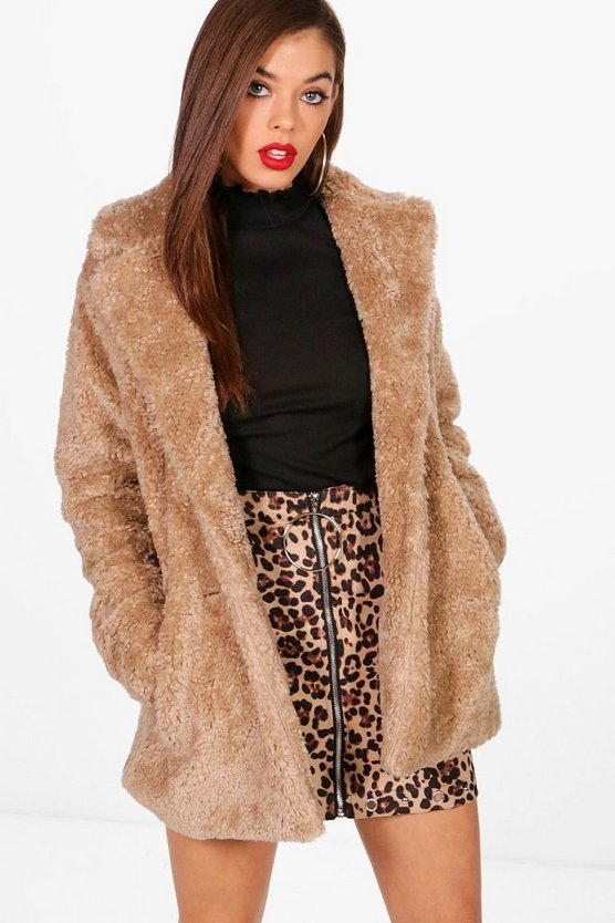 Shaggy Faux Fur Coat