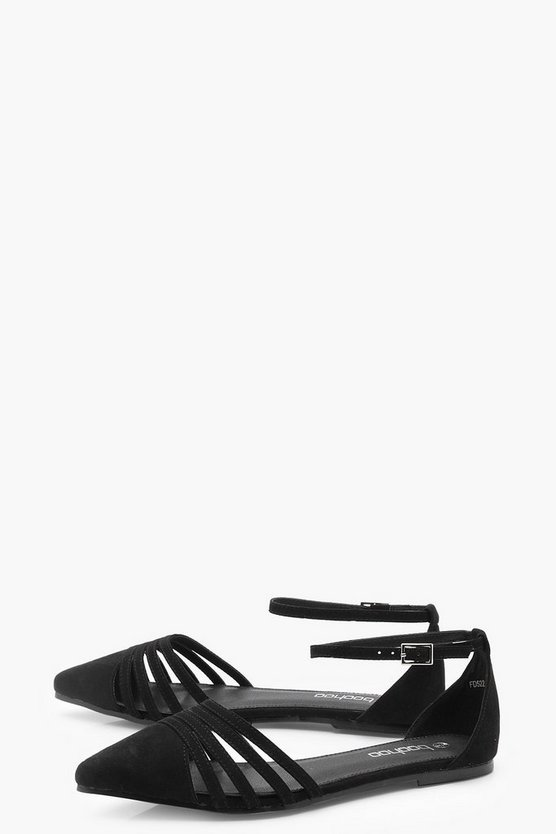 Caged Front Pointed Flats