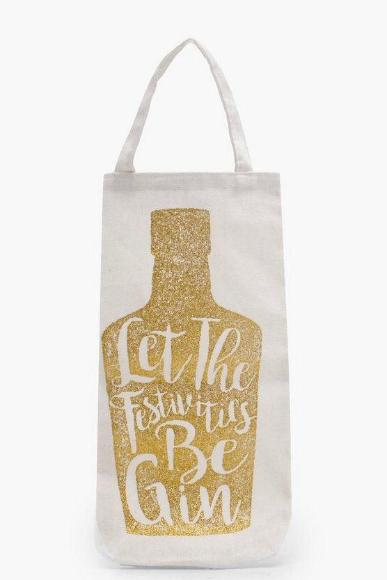 Festivities Be Gin Bottle Bag