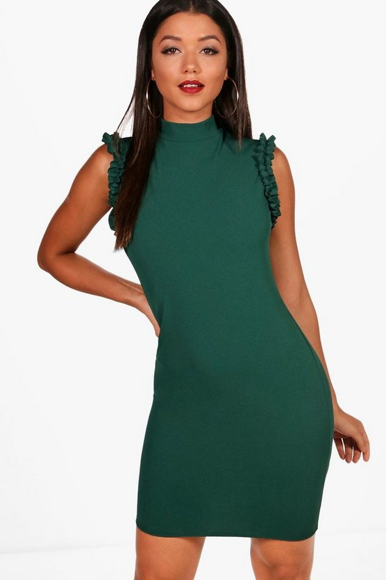 Ruffle Armhole Dress