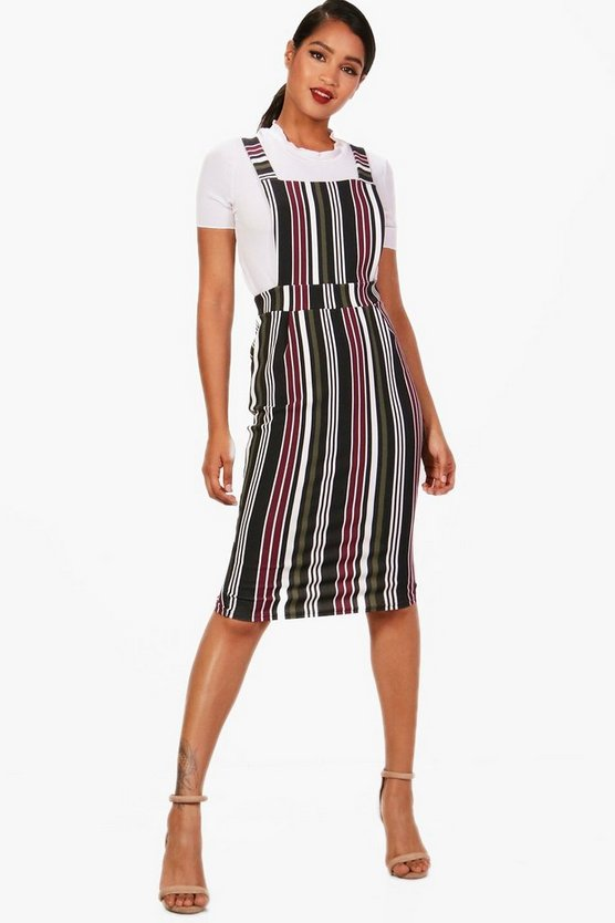 Lola Pinafore Stripe Midi Dress