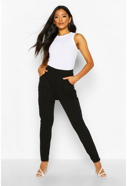Womens Black Pleat Front Trouser