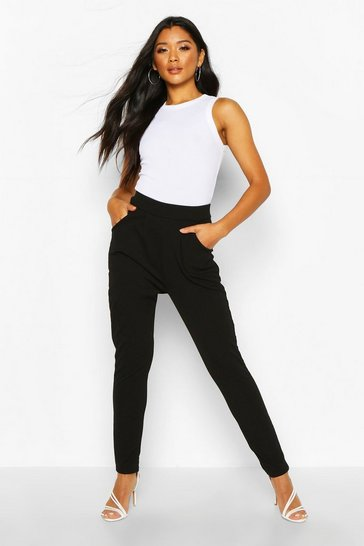 Black Pleat Front Trouser