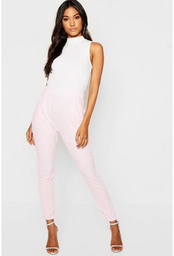 Soft pink Pleat Front Trouser