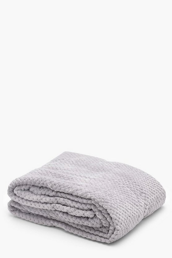 Womens Popcorn Fleece Throw