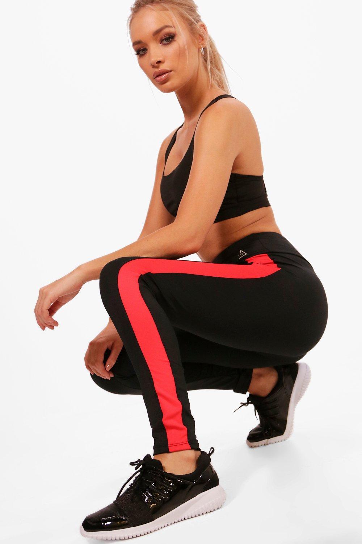 cintura alta rayas negro de de Leggings Fit a correr qwWpYIxBt