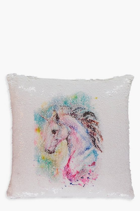 Mystical Unicorn Sequin Cushion