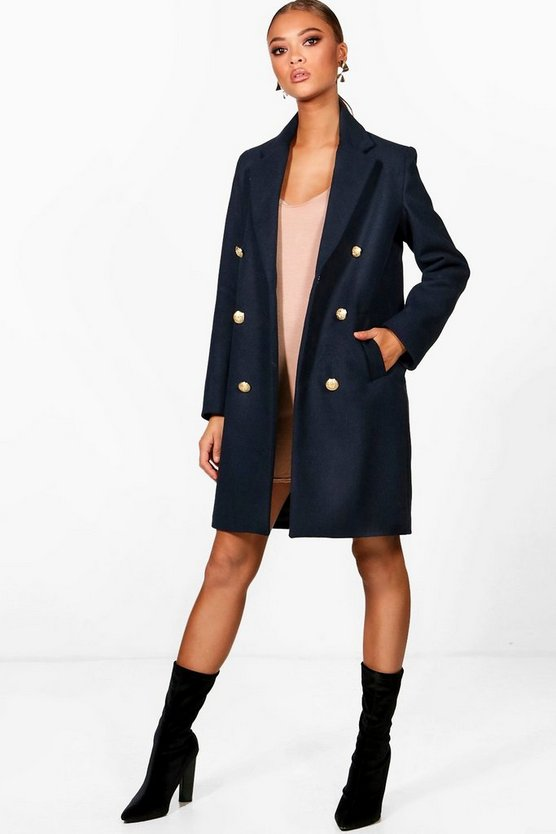 Holly Military Double Breasted Coat