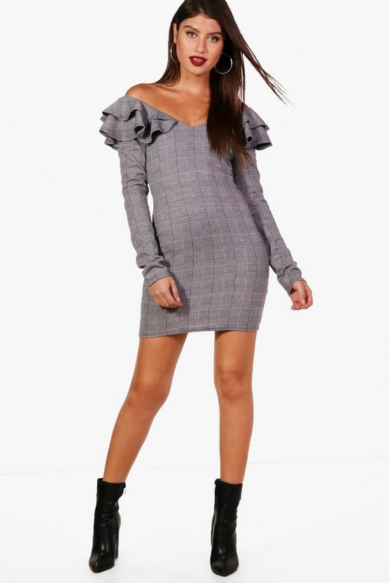 Holly Prince of Wales Check Bodycon Dress