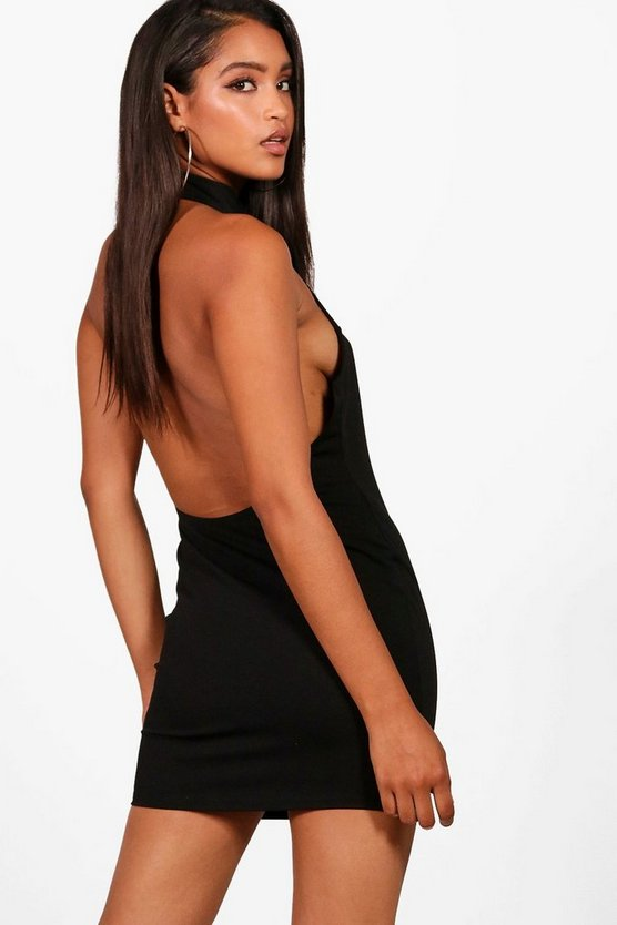 Gigi Halterneck Backless Bodycon Mini Dress