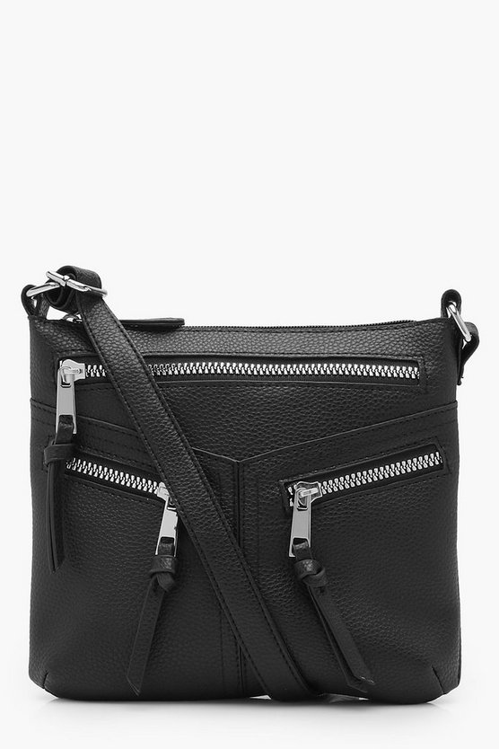 Holly Multi Zips Cross Body