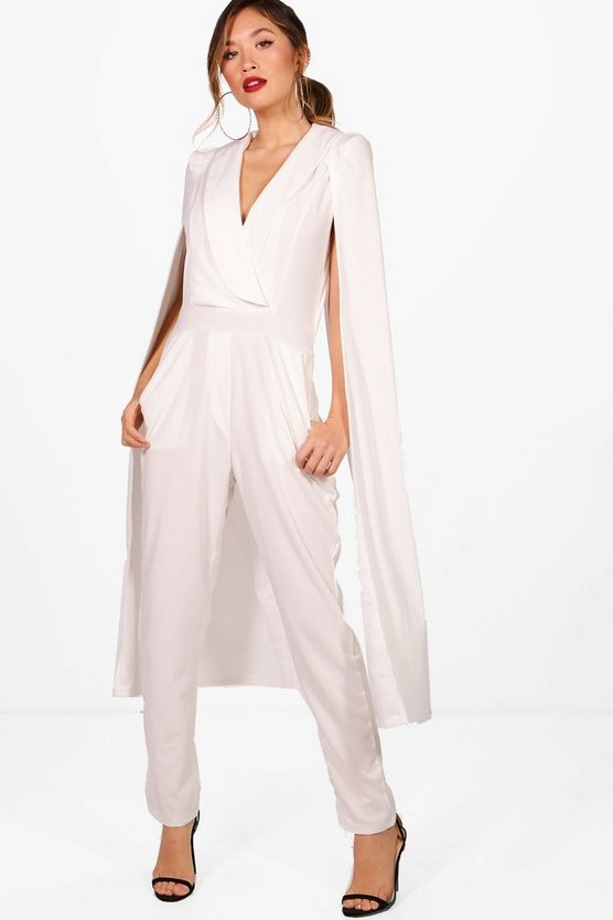 Aimee Cape Tailored Jumpsuit