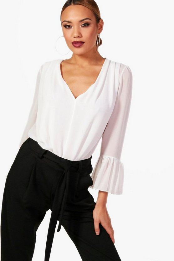 Pleat Front Bodysuit