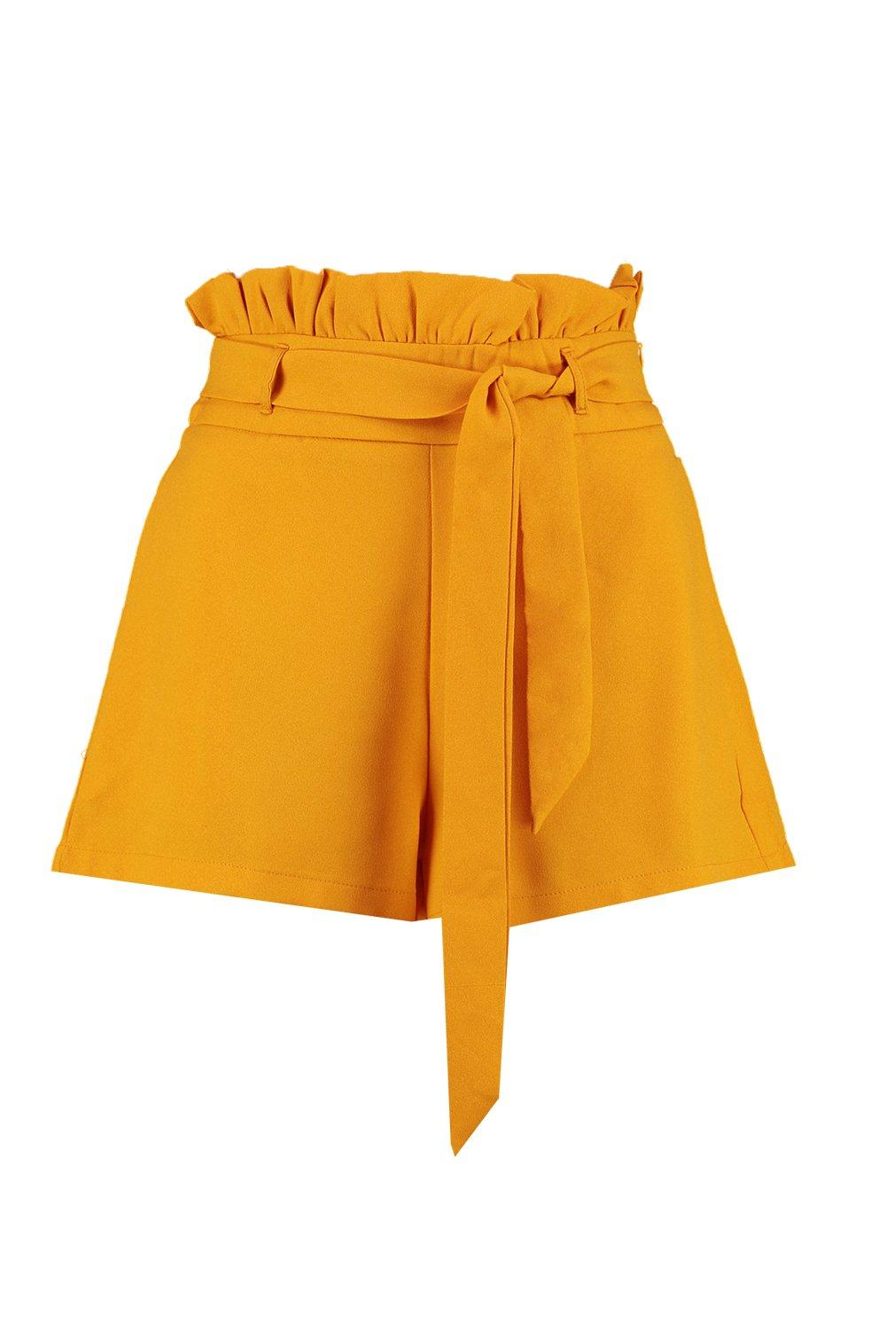 Waist Tie Paper amber Shorts Bag Belted O6xqza