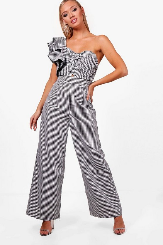 Statement Shoulder Culotte Jumpsuit