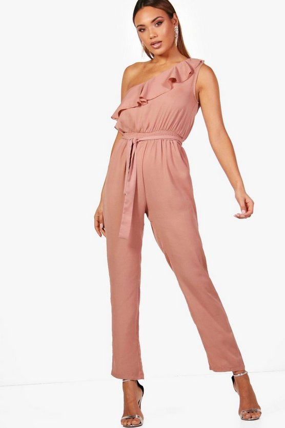 Chiffon One Shoulder Jumpsuit