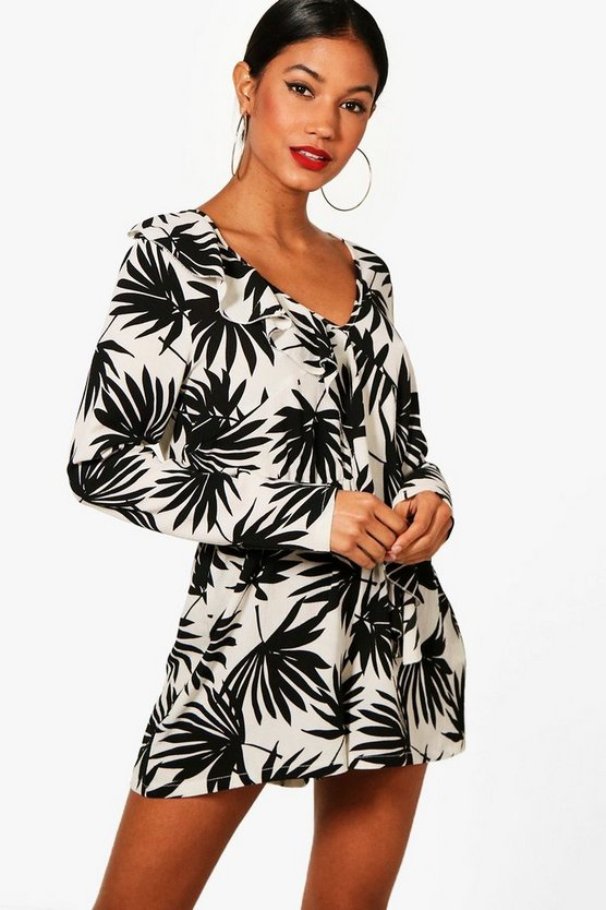 Ruffle & Wrap Playsuit