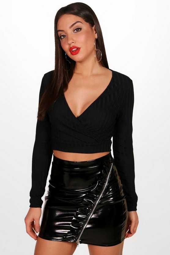 Cross Front Cropped Jumper