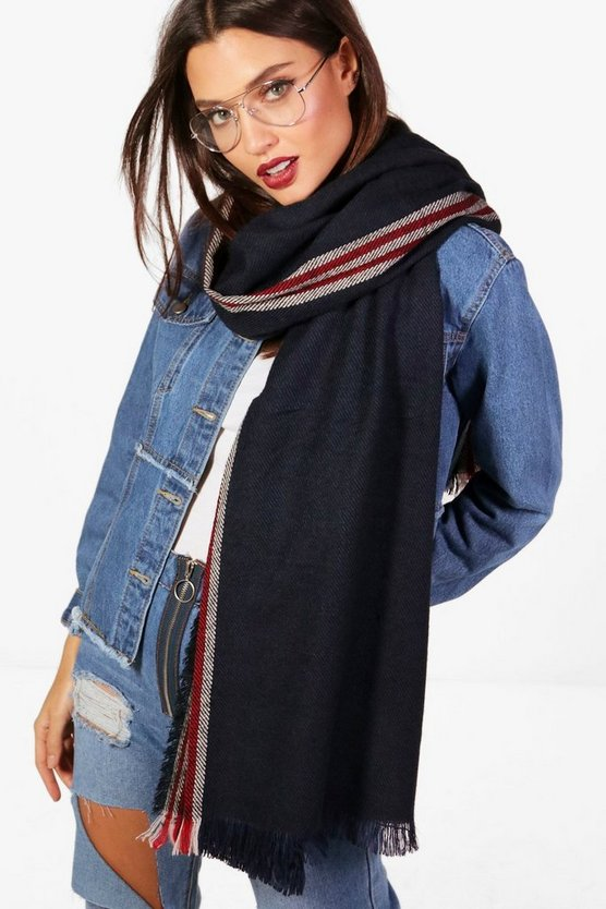 Sophia Sports Stripe Scarf