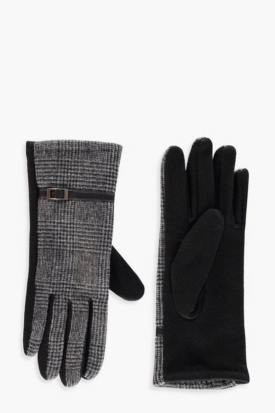 Freya Checked Contrast Gloves