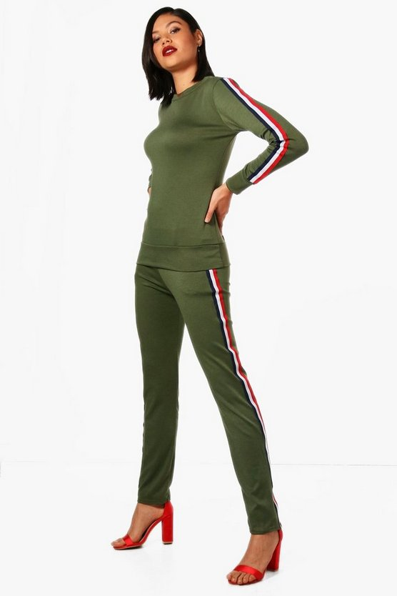 Riley Athleisure Sports Stripe Tracksuit