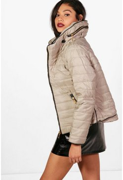 Womens Stone Quilted Jacket