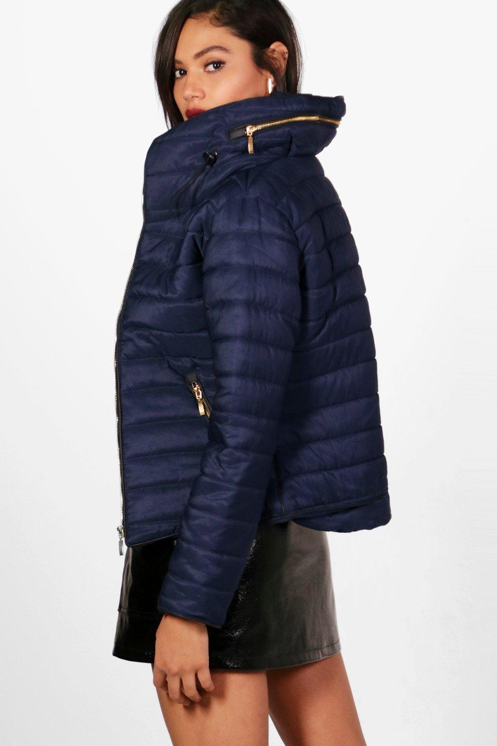 Quilted Jacket navy Sara Sara Jacket navy Quilted Sara wfr5xSfq