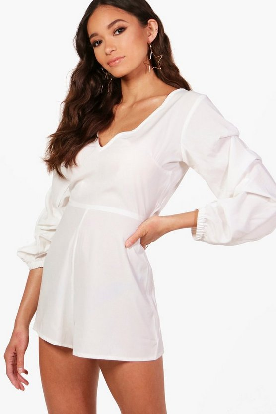 Statement Ruffle Sleeve Playsuit