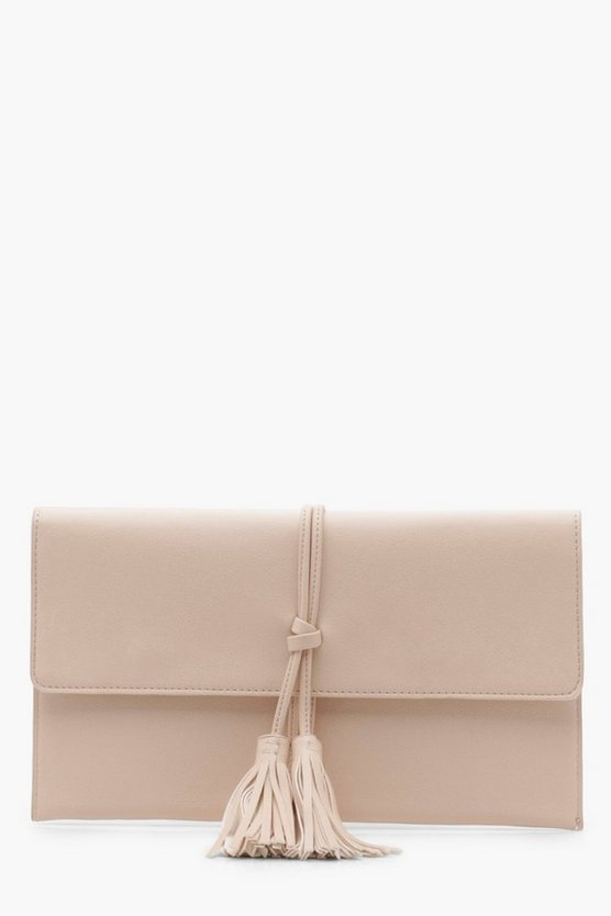 Double Tassel Envelope Clutch