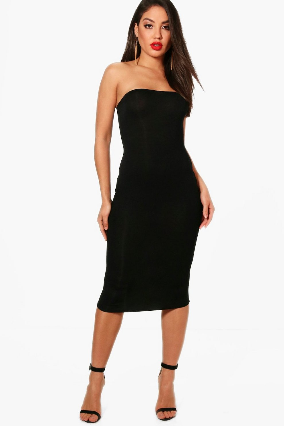 4b06863804ae Maya Bandeau Bodycon Midi Dress | Boohoo