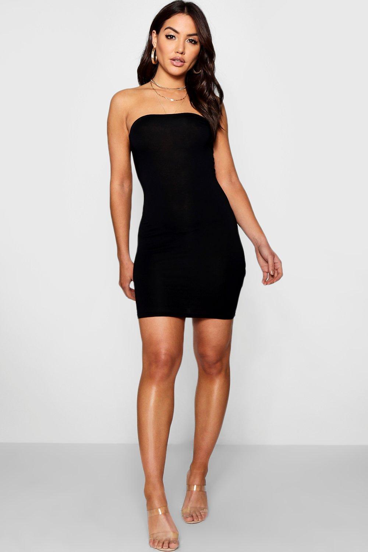 Bandeau Jersey Bodycon Dress | boohoo