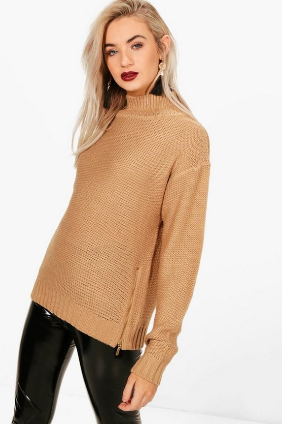 Milly Turtle Neck Side Zip Jumper