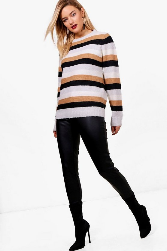 Stripe Fisherman Jumper