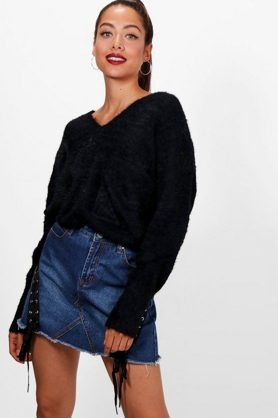 Fluffy Knitted Slouchy Jumper