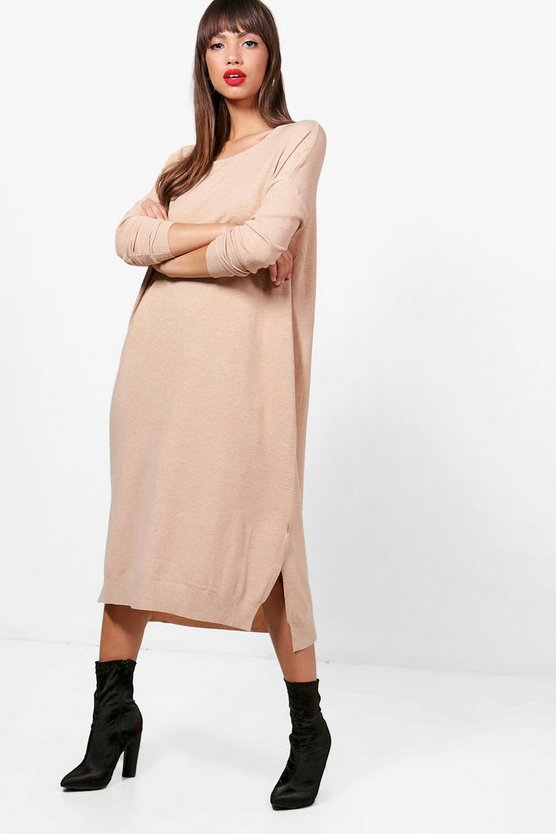 Minnie Oversized Split Side Midi Dress