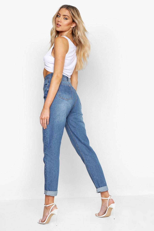 blue Boyfriend Wash Rise Mid Jeans mid High fYnq4TxEwf