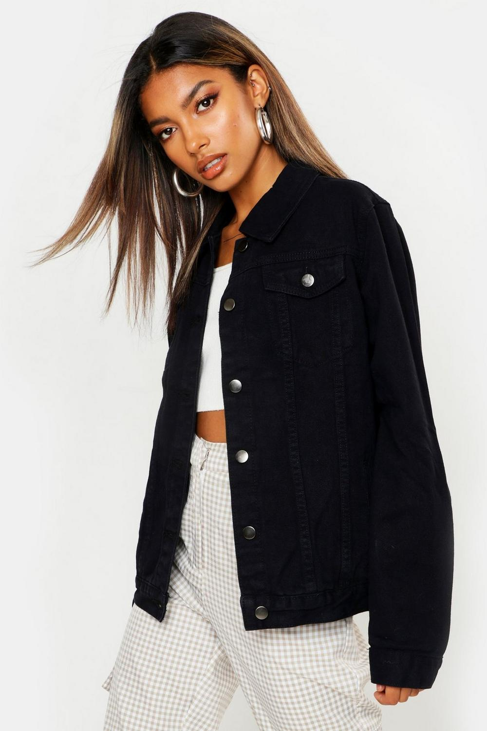 1e7554bb969 Oversize Black Denim Jacket