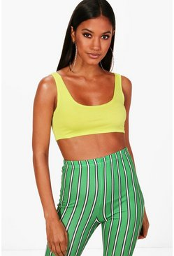 Lime Basic Square Neck Bralet