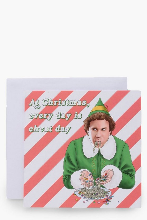 Elf Cheat Day Christmas Card