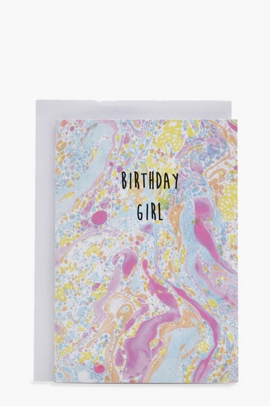 Marble Ink Birthday Girl Card