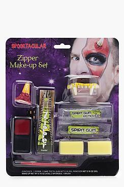Halloween Fang Zipper Face Make Up Kit