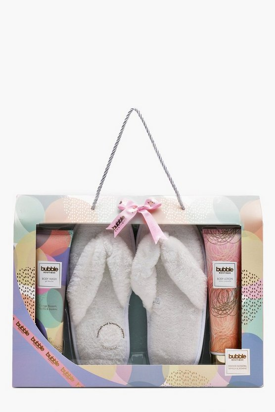 S&G Bubble Boutique Slipper Gift Set