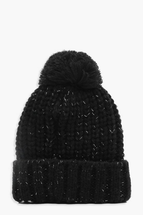 Amy Glitter Knitted Beanie