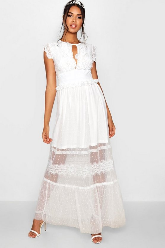 Robe Maxi en relief et en tulle Boutique