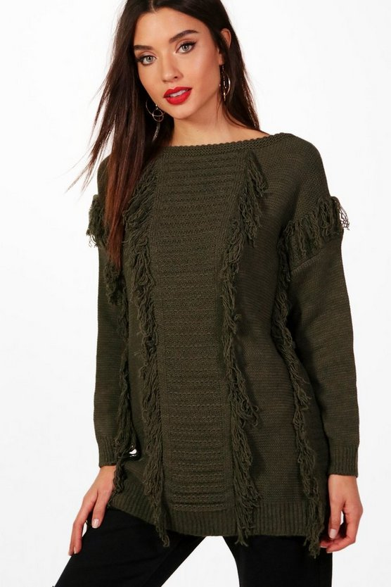 Tassel Fronted Knitted Jumper