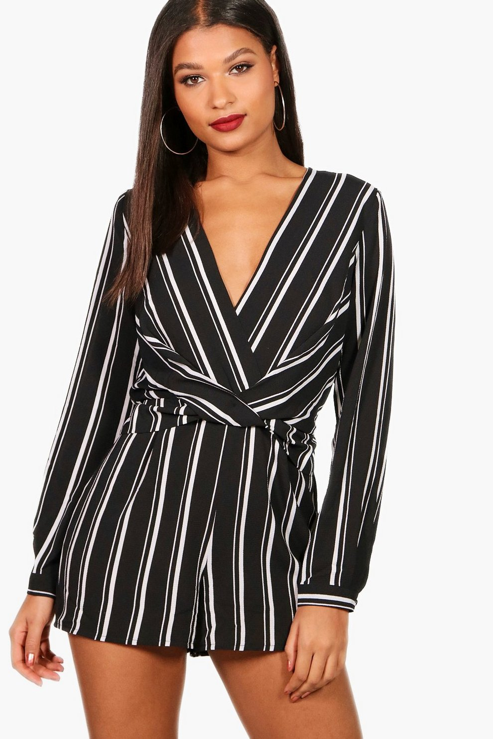 123f8a6a310 Striped Twist Front Playsuit