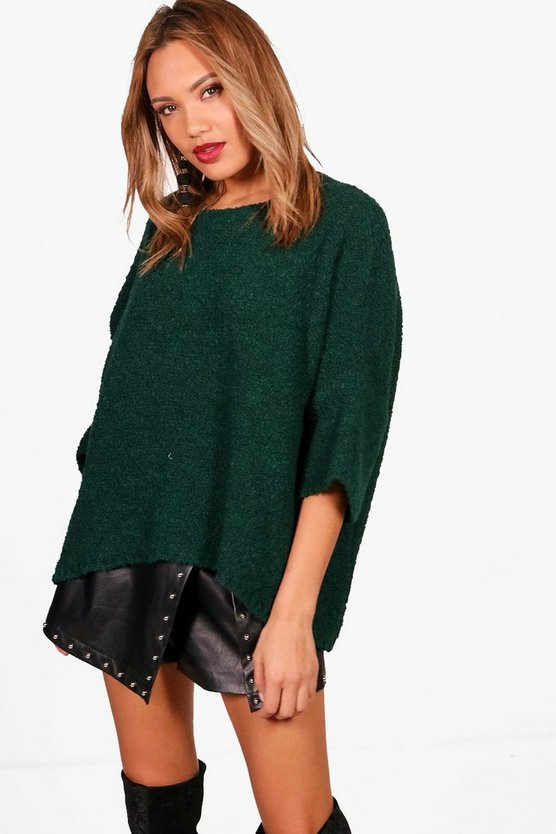 Oversized Boucle Box Knitted Jumper