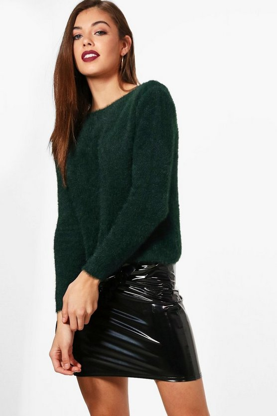 Fluffy Knit Oversized Jumper