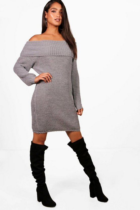 Bex Bardot Chunky Knitted Dress