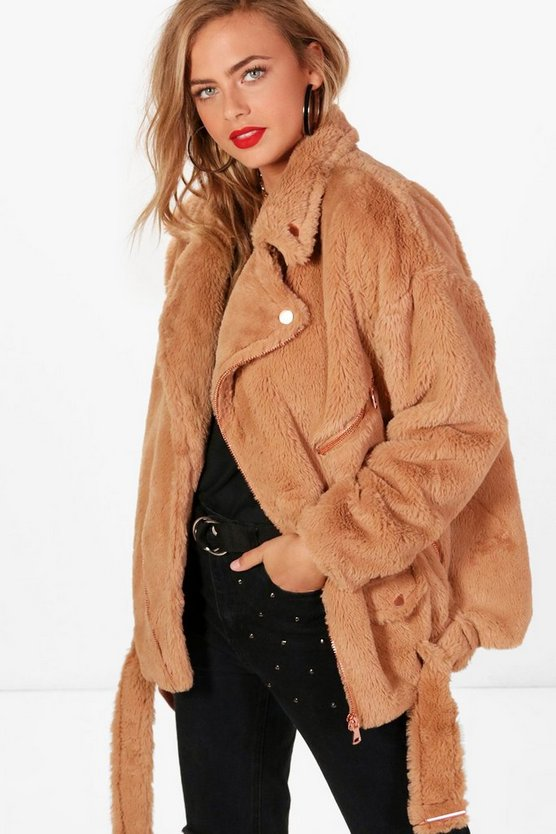 Fiona Faux Fur Aviator